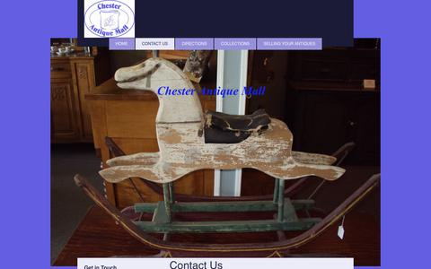 Screenshot of Contact Page chesterantiquemall.com - Chester Antique Mall - Contact Us - captured July 6, 2017