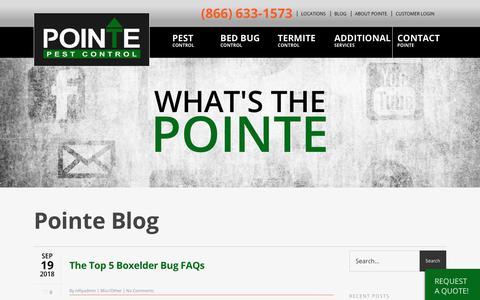 Screenshot of Blog pointepest.com - Our Pest Blog: Pointe Pest Control - captured Sept. 28, 2018