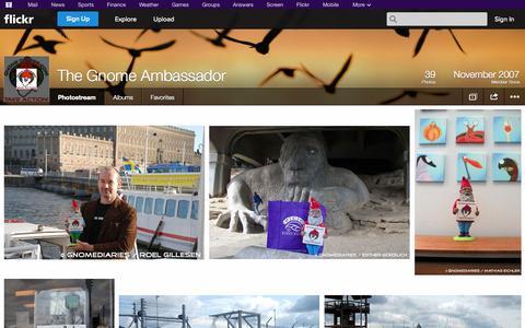 Screenshot of Flickr Page flickr.com - Flickr: The Gnome Ambassador's Photostream - captured Oct. 22, 2014