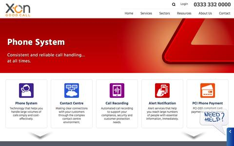 Screenshot of Home Page x-on.co.uk - X-on Cloud Communications - captured July 19, 2016