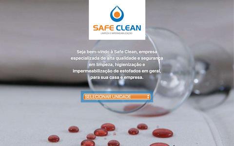 Screenshot of Home Page safeclean.com.br - Safeclean | Limpeza e Impermeabilização - captured July 25, 2018