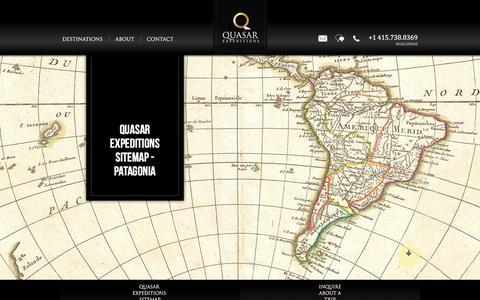 Screenshot of Site Map Page quasarex.com - Quasar Expeditions Sitemap - Patagonia - captured Jan. 13, 2017