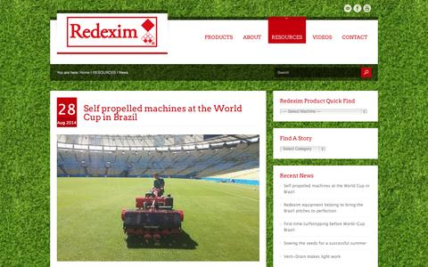 Screenshot of Press Page redexim.com - News - captured Oct. 7, 2014