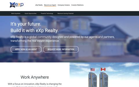 Screenshot of Jobs Page exprealty.com - Join eXp Realty - captured Dec. 7, 2018