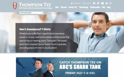 Sweat Proof Shirts For Men By Thompson Tee | Guaranteed To Protect Against Sweat