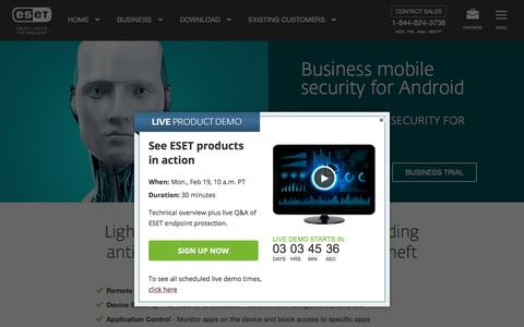 Android Security for Business Endpoint | ESET