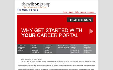 Screenshot of Home Page mywilsongroup.com - The Wilson Group - captured Oct. 23, 2018