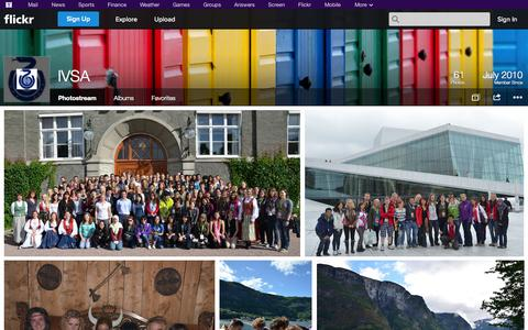 Screenshot of Flickr Page flickr.com - Flickr: IVSA's Photostream - captured Oct. 23, 2014