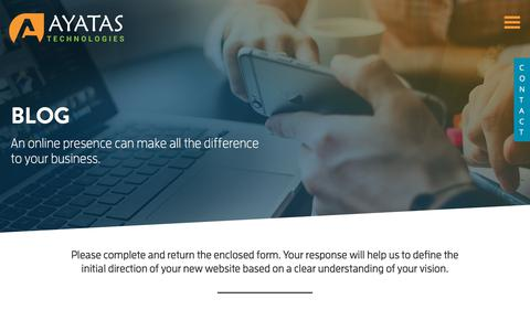 Screenshot of Blog ayatas.com - Blog - Ayatas Technologies - captured Aug. 7, 2018
