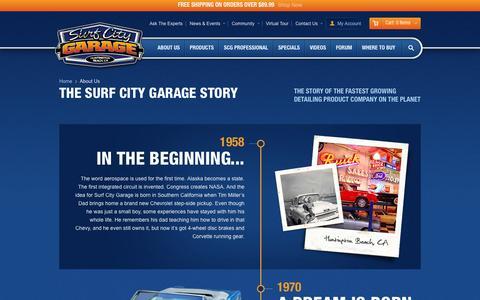 Screenshot of About Page surfcitygarage.com - Surf City Garage - About Us - captured Sept. 19, 2014