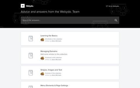 Webydo Knowledge Base