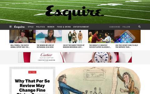Screenshot of Home Page esquire.com - Esquire - Men's Fashion, Cocktails, Politics, Interviews, and Women - captured Feb. 11, 2016