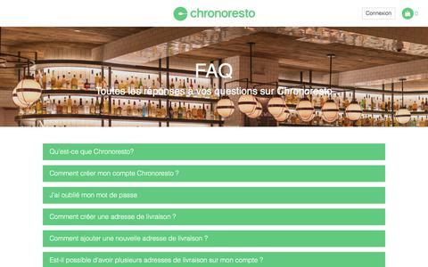 Screenshot of FAQ Page chronoresto.fr - Restauration en ligne - FAQ - Chronoresto - captured July 17, 2018