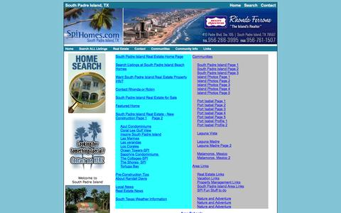 Screenshot of Site Map Page spihomes.com - South Padre Island Real Estate SiteMap - captured June 17, 2016
