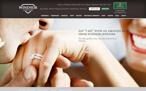 Screenshot of Home Page windsor-jewelers.com - Windsor Jewelers | Fine Jewelry Charlotte & Winston-Salem - captured April 12, 2016