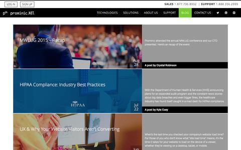 Screenshot of Blog prominic.net - Blog | Prominic.NET - captured Jan. 17, 2016