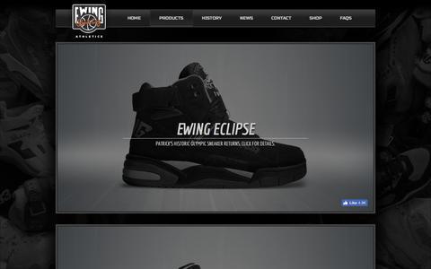 Screenshot of Products Page ewingathletics.com - Ewing Athletics     Ewing Footwear - captured Oct. 17, 2016