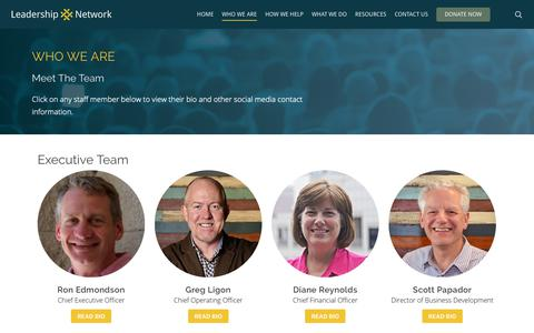 Screenshot of Team Page leadnet.org - Who We Are | Leadership Network - captured May 5, 2019