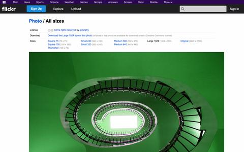 Screenshot of Flickr Page flickr.com - All sizes | Spiral Staircase | Flickr - Photo Sharing! - captured Oct. 26, 2014