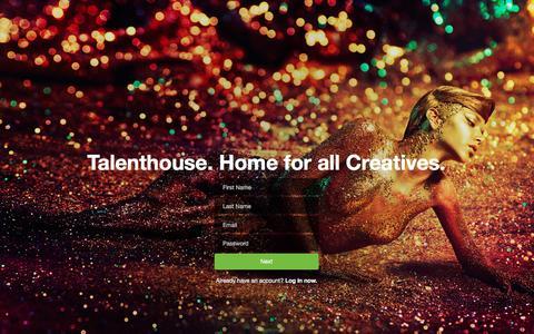 Screenshot of Signup Page talenthouse.com - Talenthouse - captured Jan. 17, 2016