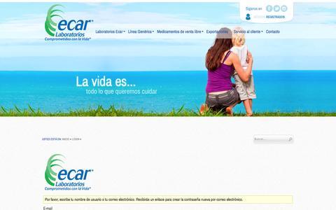 Screenshot of Login Page ecar.com.co - Acceder - captured Nov. 1, 2014