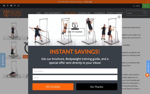 Screenshot of About Page solostrength.com - About Us – SoloStrength - captured Oct. 18, 2018