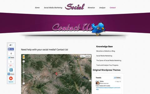Screenshot of Contact Page iservesocial.com - Contact - iservesocial.com   iservesocial.com - captured Oct. 6, 2014