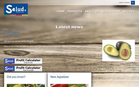 Screenshot of Press Page saludfoodgroup.eu - News - Salud Foodgroup Europe - captured Oct. 1, 2018