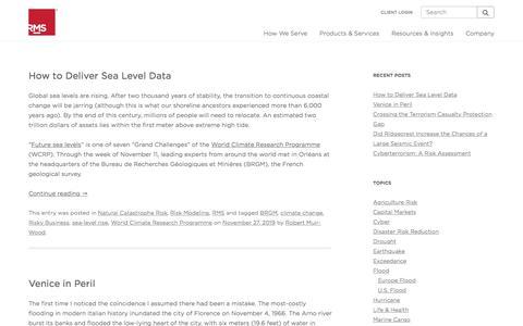 Screenshot of Blog rms.com - The RMS Blog - captured Nov. 29, 2019