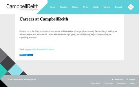 Screenshot of Jobs Page campbellreith.com - Careers at CampbellReith | CampbellReith - captured Dec. 14, 2018
