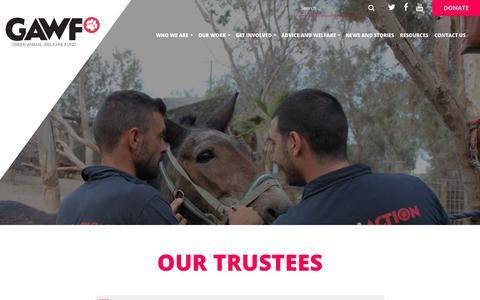 Screenshot of Team Page gawf.org.uk - Our People » Greek Animal Welfare Fund - captured July 7, 2018