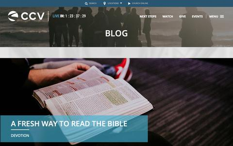 Screenshot of Blog ccvsocal.com - Campus | Christ's Church of the Valley - captured Sept. 28, 2018