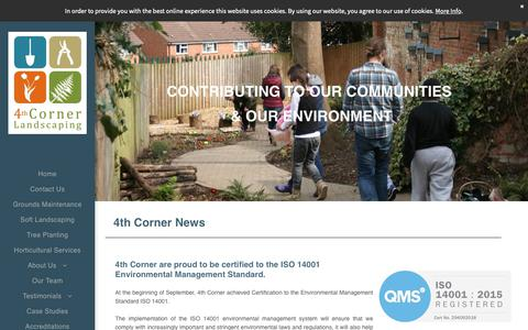 Screenshot of Press Page 4thcorner.co.uk - 4th Corner, Landscaping contractors and Grounds Maintenance contractors - captured Oct. 20, 2018