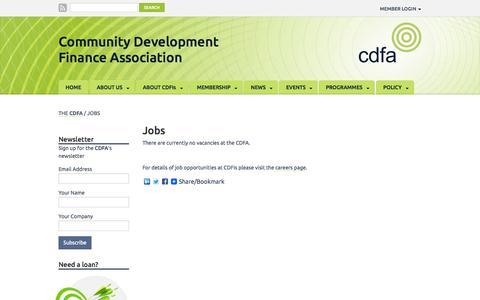 Screenshot of Jobs Page cdfa.org.uk - Jobs at the CDFA | The CDFA - captured Oct. 23, 2014