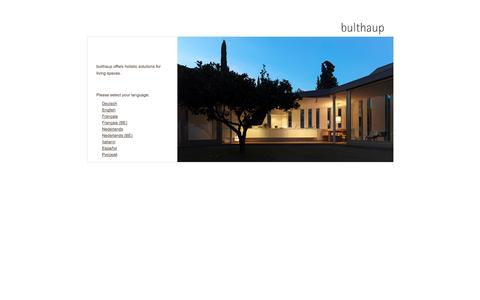 Screenshot of Home Page bulthaup.com - bulthaup, kitchen living space - captured Sept. 19, 2014