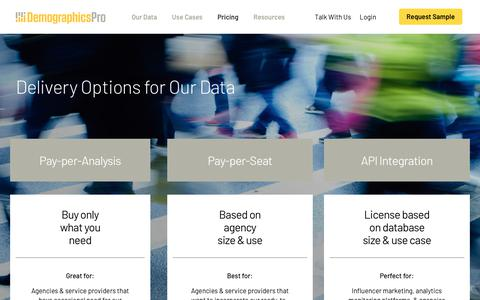 Screenshot of Pricing Page demographicspro.com - Pricing   Demographics Pro - captured April 25, 2019