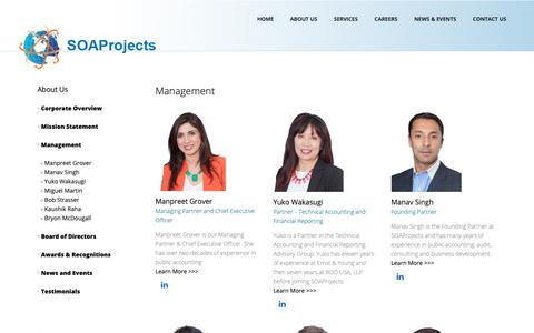 Screenshot of Team Page soaprojects.com - SOAProjects | SOAProjects Management - captured Oct. 1, 2018