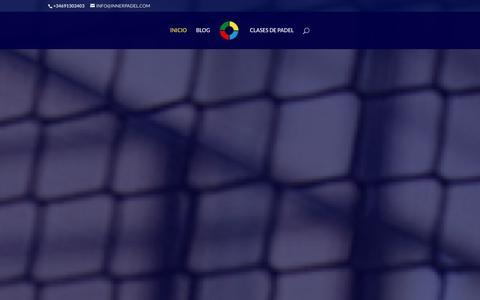 Screenshot of Home Page innerpadel.com - Inner Padel - Clases de Padel en Madrid - Clases de padel online - Clases de padel en la Moraleja de Enmedio - captured Jan. 8, 2016