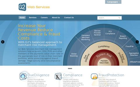 Screenshot of Home Page g2webservices.com - G2 Web Services - captured July 11, 2014