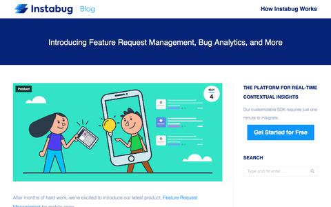 Screenshot of Team Page instabug.com - Introducing Feature Request Management, Bug Analytics, and More | Instabug Blog - captured Dec. 3, 2019