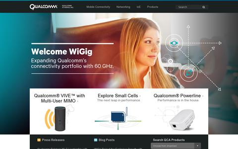 Screenshot of Home Page wilocity.com - Wilocity is now part of Qualcomm Atheros, Inc. - captured July 11, 2014