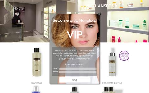 Screenshot of Products Page johansford.com - Shop - Jo Hansford - - captured Aug. 7, 2016
