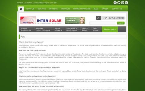 Screenshot of FAQ Page intersolarsystems.com - Faq - InterSolarSystems - captured Oct. 6, 2014