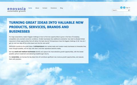 Screenshot of Home Page enovasia.com - Home - captured Oct. 1, 2014
