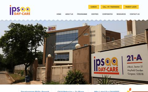 Screenshot of Blog ipsaa.in - Daycare For Infants India | Best Creche in India | Ipsaa Day Care - captured Sept. 24, 2018