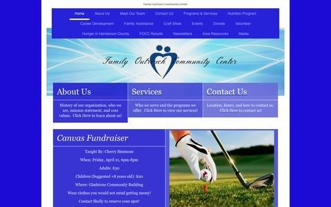 Screenshot of Home Page familyoutreachcommunitycenter.org - Family Outreach Community Center - Home - captured June 5, 2017