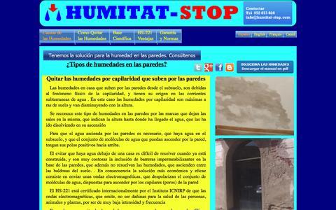 Screenshot of Home Page humitat-stop.com - Quitar las humedades en las paredes electrónicamente - captured Sept. 30, 2014