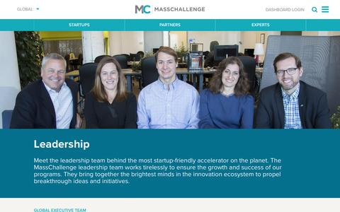 Screenshot of Team Page masschallenge.org - Leadership | Global - captured Jan. 20, 2017