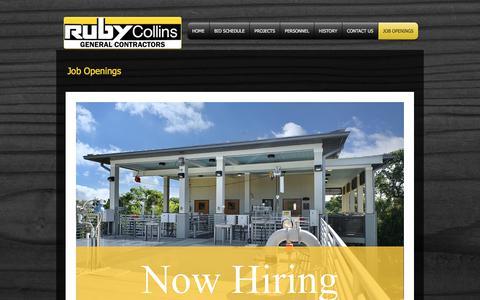 Screenshot of Jobs Page ruby-collins.com - Ruby-Collins Construction Atlanta Georgia Utility Contractor   JOB OPENINGS - captured Nov. 2, 2017