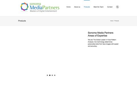 Screenshot of Products Page sonomamediapartners.com - Products | Sonoma Media Partners - captured Jan. 11, 2016